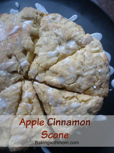 Apple Cinnamon Scone-not dry but soft, this scone is filled with flavorful apples and tasty cinnamon