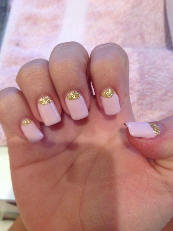 Girly glittery nails