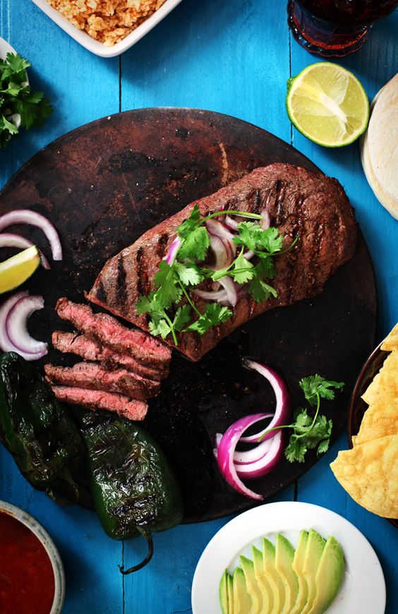 Carne Asada--Bring grilling season to an end with this delicious marinated beef recipe.