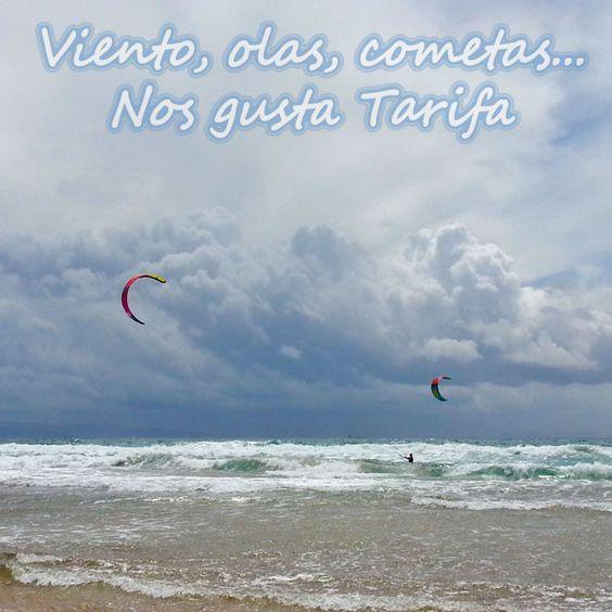 #viento + #olas + #cometas = #Tarifa