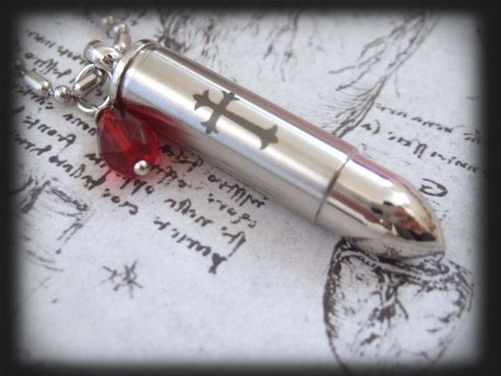 Shot A Silver Bullet Through The Heart  stainless by plasticouture, $22.50