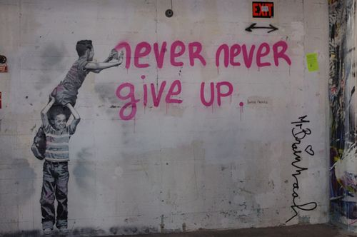 Never Never Give Up, art show 2011, MBW
