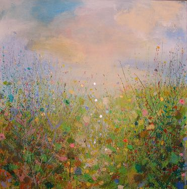 "Saatchi Online Artist Sandy Dooley; Painting, ""Spring "" #art  Love the country-like feeling"