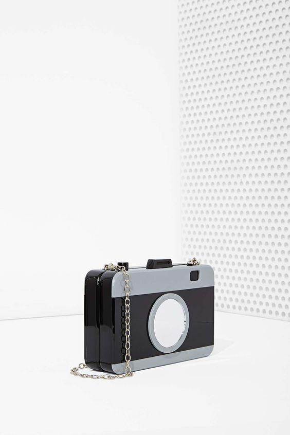 Acrylic Camera Crossbody Bag: