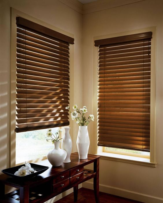 Ideal To Shut Off Light Royal Furnishings Wooden Blinds