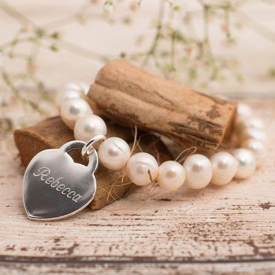 Personalised Freshwater Pearl Bracelet | GettingPersonal.co.uk