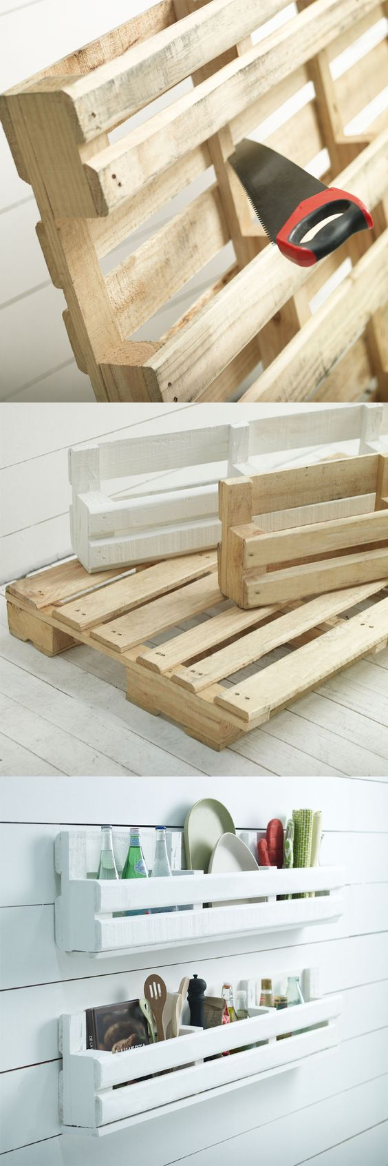 Great idea for storage and organization without taking up too much space.: