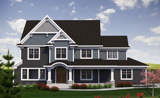 Plan 89970ah 2 Story Traditional Farmhouse Plan Craftsman Floor Plans Craftsman House Plans Craftsman Style House Plans