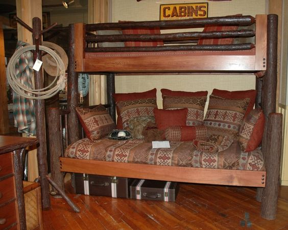 Old Hickory Bunk Bed | Twin over Full Bunk Bed