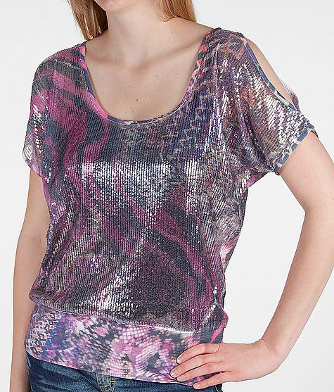 Daytrip Sequin Front Top