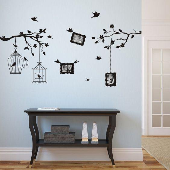 Wall sticker arbre des photos 9x13cm 3410n stickers muraux photos et sti - Dalles murales autocollantes ...