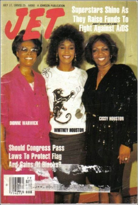 Jet Magazine cover with Dionne Warwick-Whitney Houston and Cissy Houston mus.