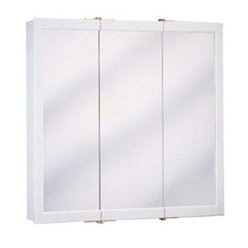 Special Offers - Cheap ZENITH PRODUCTS W24 White Wood Triview Medicine  Cabinet Surface Mount 23-