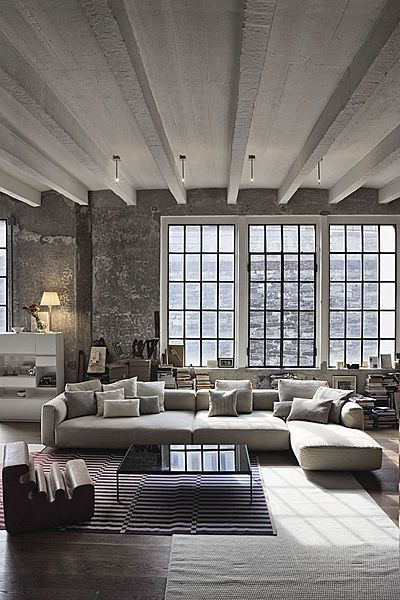 big windows clean lines simple color palette beautiful modern apartment space big beautiful modern office photo