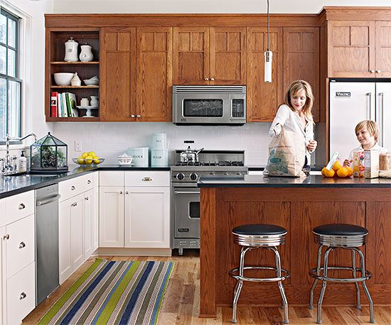 mixed wood kitchen cabinets mixed kitchen cabinets kitchen design ideas 7544