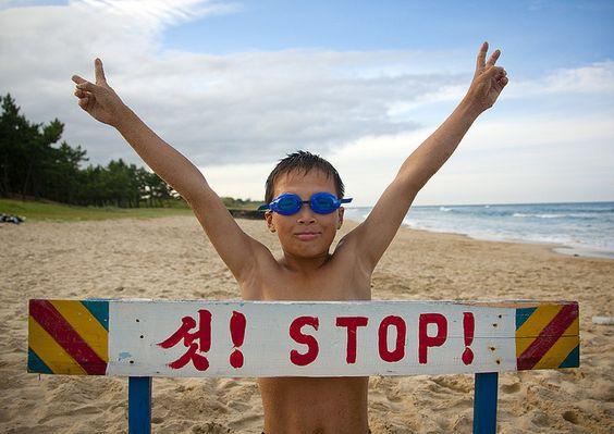 Fun on the beach in Chilbo sea - North Korea | Flickr: partage de photos!