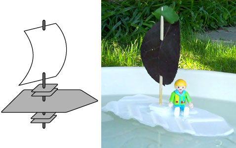 Toy Shop- Styrofoam sailboat craft