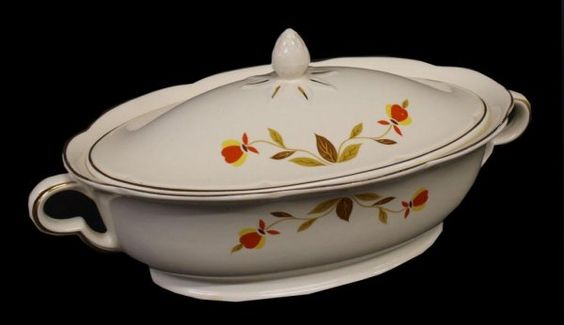 HALL AUTUMN LEAF JEWEL TEA. My girlfriend of 68 years gave me this dish last year for my 70 birthday.