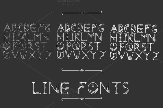 Line fonts pack by colorsark on @creativemarket