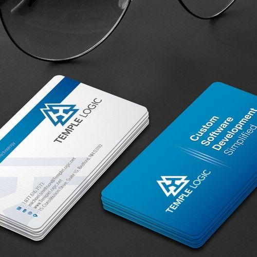 Business Card For Software Company We Are A Custom Software Development Company We Provide On Staff Technology Teams Cartao De Visita Carta