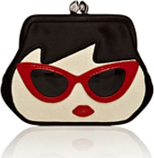 Lulu Guinness coin purse--This is adorable. It would be cute as a zipper pouch also.
