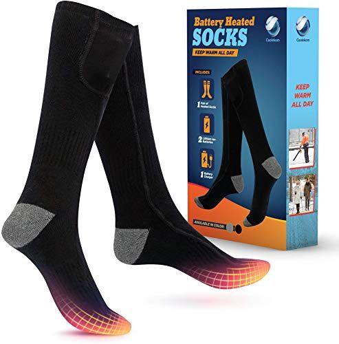 Amazing Offer On Coolekom Heated Socks 9hrs Heating Best Heated Socks Women Heated Socks Men Online With Images Socks Women Heated Socks Cold Weather Socks