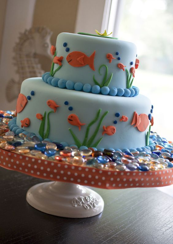 Goldfish Cake Party Time Pinterest Cakes Fish And