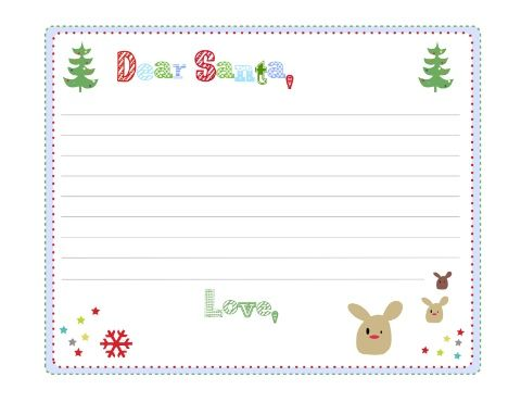 letter template printable to santa Labels and stationary - free xmas letter templates