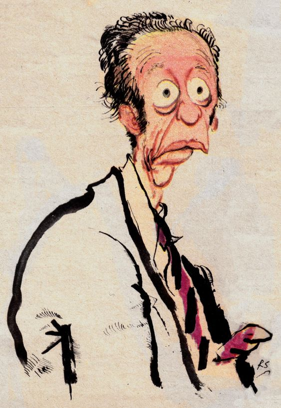 Ronald Searle | Don Knotts for TV Guide 1970