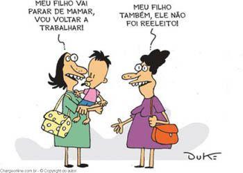 Blog do Ozailton: CHARGE: DEIXANDO DE MAMAR...