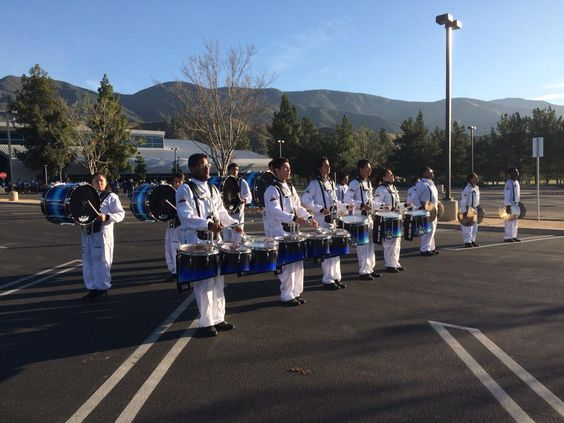 Warming up in the lot! #WGI #WesternChampionships