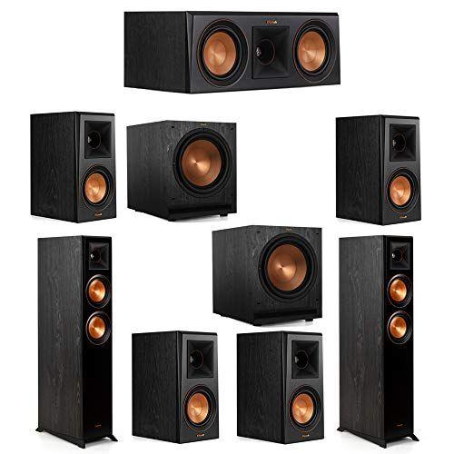 Klipsch 7 2 System With 2 Rp 5000f Floorstanding Speakers 1 Klipsch Rp 500c Center Speaker 4 Klipsch Rp 500m Surroun Surround Speakers Klipsch Center Speaker