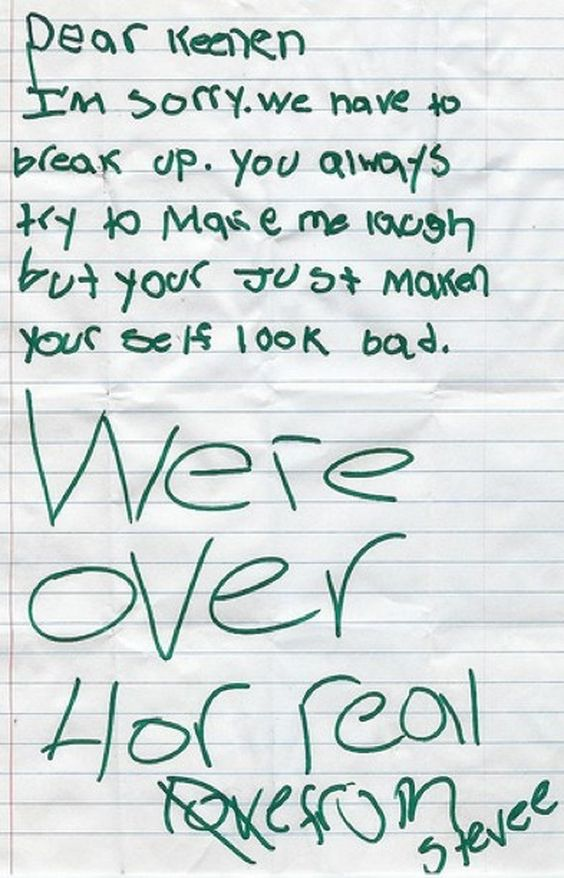 18 Breakup Letters That Will Make You Happy To Be Single Humor - breakup letters