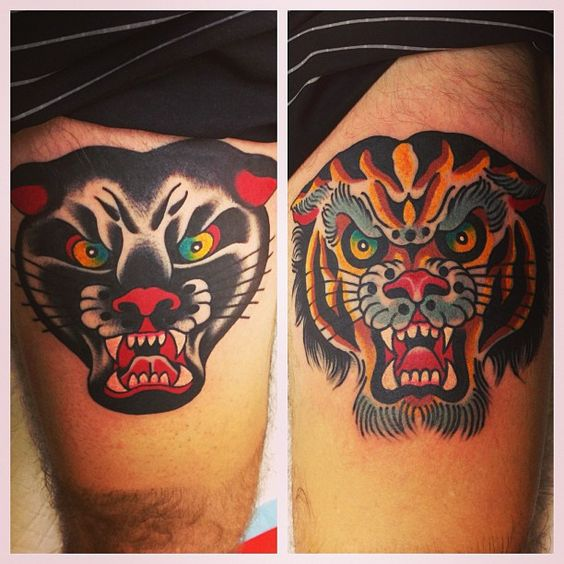 Panther & Tiger heads // Stevie Edge