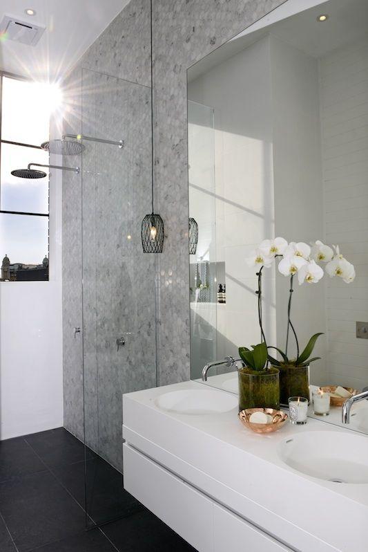 Ensuite Bathroom Ideas Grey : The block glasshouse ensuite week