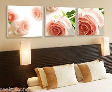 "Set of three Paint by Number 50x50cm (20x20"") Pink Roses DIY Painting YT17017"