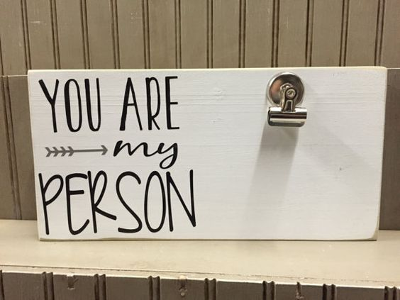 You are my Person Photoboard Frame with Bulldog by CreativeJunkies