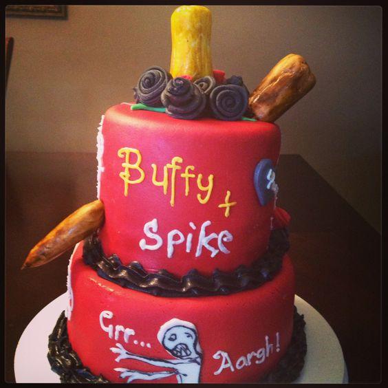 Fangirl Geek Nerd Fondant Cake Decorating Happy Birthday - Slayer birthday cake