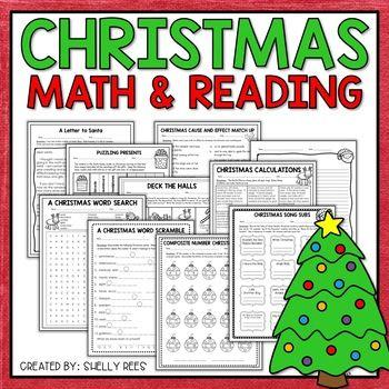 Christmas Math And Christmas Reading Worksheets Christmas Math Reading Worksheets Math