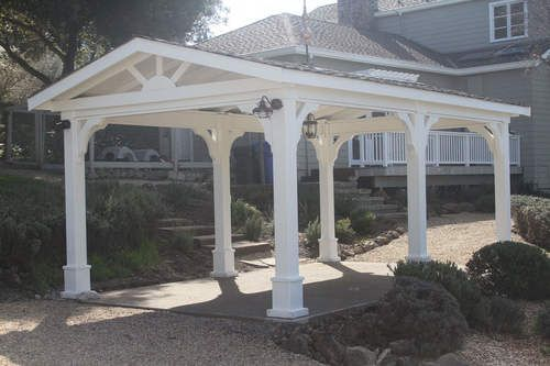 Pressure Treated Pine Gabled Roof Pavilion Gazebo Pergola Pergola With Roof