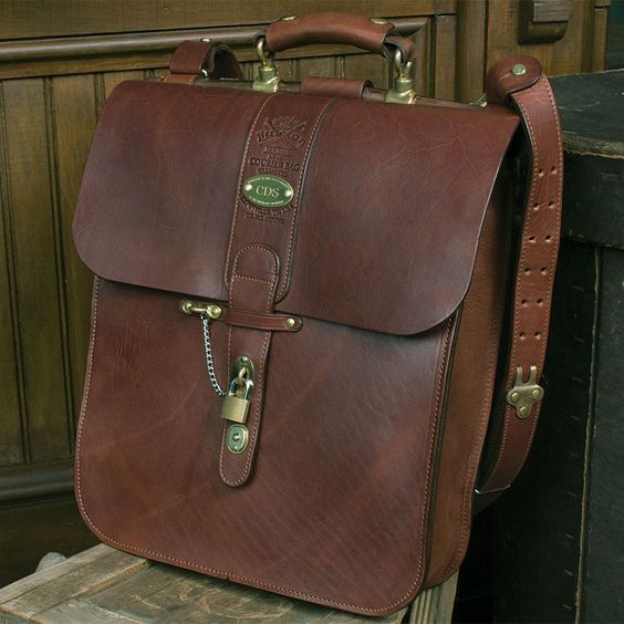 brass lift-the-dot hardware!   Col Littleton (No. 42 Courier Bag)