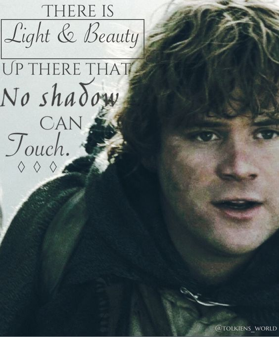 There is light and beauty up there that no shadow can touch Mr. Frodo.  *crying*: