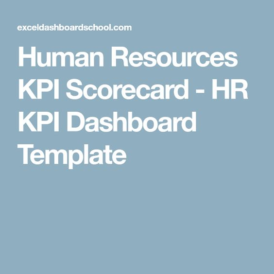 Human Resources KPI Scorecard - HR KPI Dashboard Template A Lady - hr dashboard template