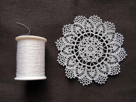 crochet mini doily   A Crafts   Pinterest   Lagos, Patrones y House