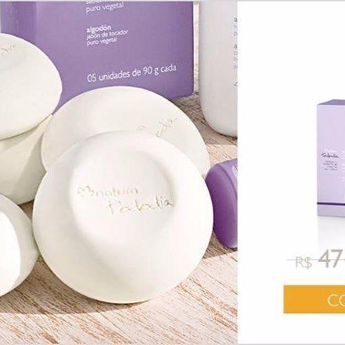 O sabonete em barra puro vegetal algodão tem fragrância delicada e traz a sensação de maciez e suavidade para a sua pele.  Promoção por tempo limitado. Link na Bio