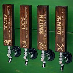 Your Custom Brand Dark Walnut Beer Tap Handle