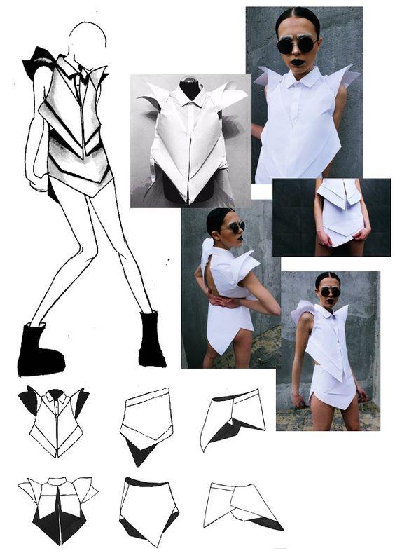 MSKPU fashion design student Pola Bogdańska's project of a avant-garde fashion costume.  MSKPU - International School of Costume and Fashion Design based in Warsaw, Poland Międzynarodowa Szkoła Kostiumografii i Projektowania Ubioru, Warszawa www.mskpu.pl