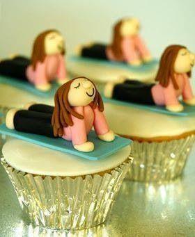 Yoga cupcakes - Our turquoise yoga mat www.aspenyogamats.com