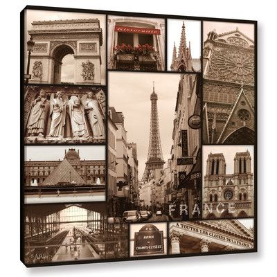 Red Barrel Studio France Graphic Art on Wrapped Canvas Size: