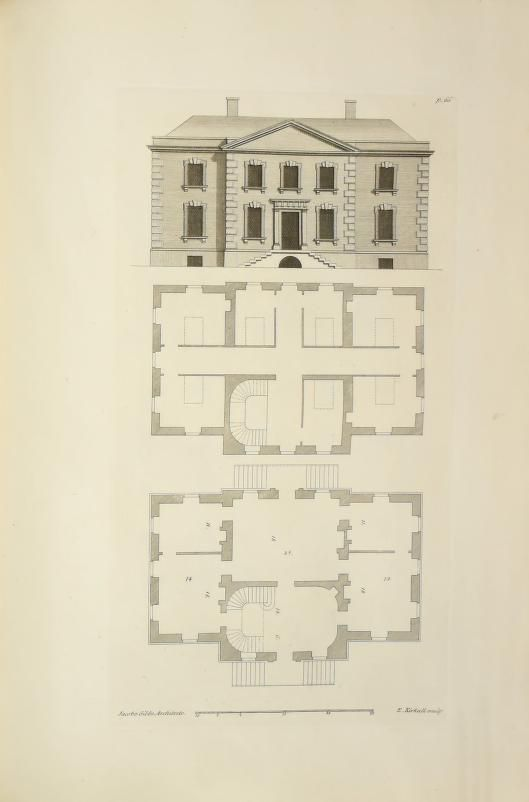 A Book Of Architecture Containing Designs Of Buildings And Ornaments Gibbs James 1682 1754 Free D Vintage House Plans Architecture Drawing Architecture